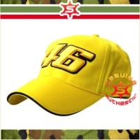Topi Bordir VR46 MotoGP Valentino Rossi Yellow Topi Baseball Original