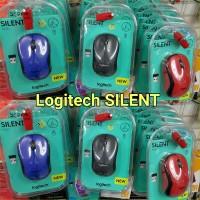 SILENT MOUSE wireless Logitech M221 Tiga Warna ORIGINAL GARANSI RESMI