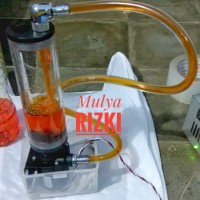 Reservoir Tank Water Cooling Cooler Cpu 160mm Slim Style DC Pump 12v