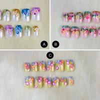Jual Kuku Palsu handmade fake nails party wedding nail art fimo Murah