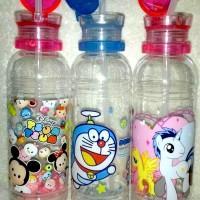 Jual Botol minum little pony, doraemon, disney tsum tsum (ada sedotan &Tali Murah