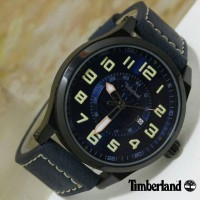 Jam Tangan Fashion Timberland HN594 Man Watch Leather - Black Yellow