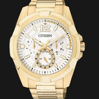 Citizen AG8332-56A Eco-Drive White Dial Stainless Steel Bracelet Watch