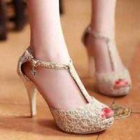 Sepatu Import / Wedges Heels Flatshoes Boot Kets Brokat Tali T |