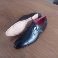 Sepatu Kulit Pantofel Single Strap Buckle 44