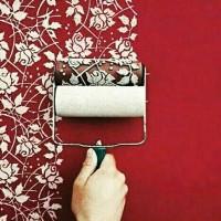 harga roll cat motif/roller paint wallpaper Tokopedia.com