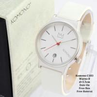 Jam Tangan Wanita / Cewek / Jam Murah Komono Queen White Color + Box