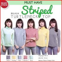 Harga striped turtleneck top baju kaos lengan panjang atasan wanita | antitipu.com