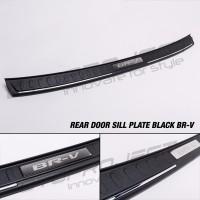 Sillplate Belakang / Rear Door Sill BRV Hitam Chrome Injection