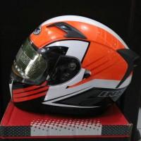 Helm INK Duke Black Orange White Motif Fullface Visor Antifog