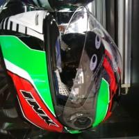 Helm INK CBR600 Black Red Green CBR 600 Fullface Visor