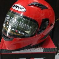 Helm INK Duke Red Glossy Solid Fullface Visor Antifog