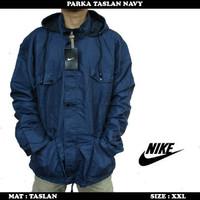 best seller Jaket Pria Parka Taslan Navy Jumbo Hoody    murah u/