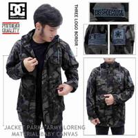 Top product jaket parka army loreng DC pria   murah u/ kado hadi
