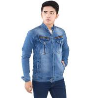 best seller Jaket Inficlo SPI 436 Biru Pria - Jacket Cowok Jeans