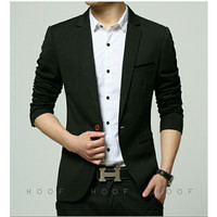 Top product Jas blazer pria korea Moderaizen hitam   murah u/ ka