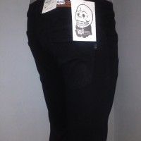Jual Celana Jeans Cheap monday skinny/pensil pria , hitam pekat Murah