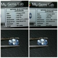 2 Pcs - Blue Sapphire Srilanka Safir Ceylon - No Heat