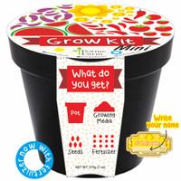 Jual Sunflower Mini Grow Kit Writable Sticker With Fertilizer Murah