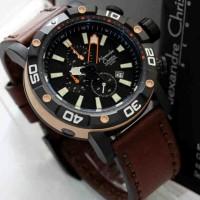 Alexandre Christie 6413 Diver Rose Brown Leather Original