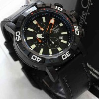 Alexandre Christie 6413 Diver Black Leather