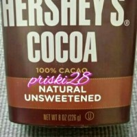 HERSHEY'S COCOA NATURAL UNSWEETENED