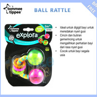 Jual Tommee Tippee Double Rolling Ball Rattle 0m+ (Mainan Bayi) Murah Murah