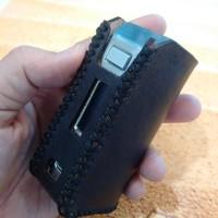 Genuine Bodyfit Leather Case Skar Lost Vape DNA 75 Black & Brown