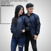 jaket bomber simple smooth couple