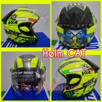 harga Helm CAT Rossi / helm half face / helm murah Tokopedia.com