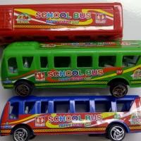 Mobil Bis Miniatur City School Bus Murah Lucu Mainan Anak Edukasi