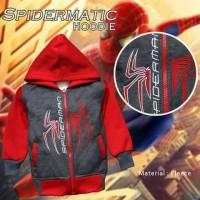 JAKET ANAK LAKI KARAKTER SPIDERMAN BORDIR SWEATER SLETING