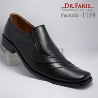 SEPATU PANTOFEL DR.FARIS 1158 BLACK LEATHER ORIGINAL HANDMADE 39-43