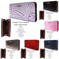 dompet wanita kulit croco impor super zipper