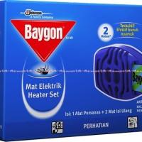 Baygon Mat Electric Heater Set Baygon Matt Obat Nyamuk Elektrik Alat