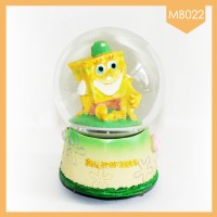 Koleksi Pajangan Cantik Snowball Music Box Spongebob Terbaru