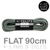 KipzKapz Shoelace - Tali Sepatu Abu Pipih / Flat 8mm - Grey 90cm