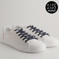 KipzKapz Shoelace - Tali Sepatu Biru Tua Pipih / Flat 8mm - Navy 115cm