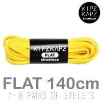 KipzKapz Shoelace - Tali Sepatu Kuning Pipih / Flat 8mm - Yellow 140cm