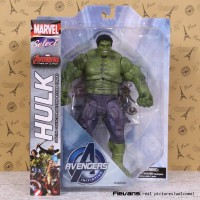 MAINAN ACTION FIGURE MARVEL SELECT HULK AVENGERS ARTIKULASI