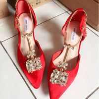 Sepatu Jimmy Choo, Highheels Pesta Import Premium Mirror Quality