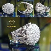 Cincin berlian fashion 1.23 ct ring emas putih