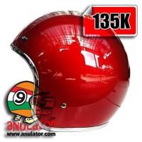 harga helm custom 100/model bogo, cargloss, vespa, merah list crome krom Tokopedia.com