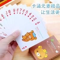 kartu poker remi karakter kartun cute bear cartoon game cards hma002