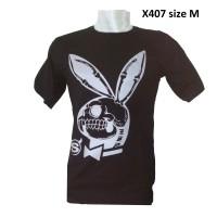 X407 Kaos Gambar Kelinci Kaos Gambar Horor Kaos Tengkorak Kaos keren