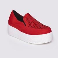 Jual Sepatu Wanita Slip On Red by Adorable JJ (07895497) Murah