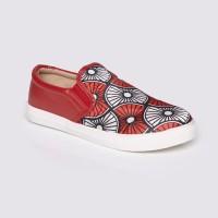 Jual Sepatu Wanita Slip On Red by Adorable JJ ( 07886152 ) Murah