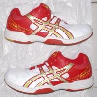 harga no. 43/44 sepatu badminton/bulutangkis putih merah Tokopedia.com
