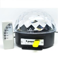MP3 Player Crystal Magic Ball Sound Activated LED Disco Lamp - Multi