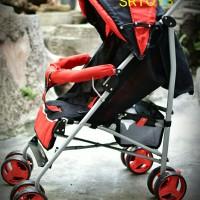 Kereta Bayi Stroller Simple Untuk Travelling Bisa Dilipat Buggy